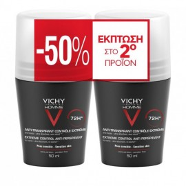 Vichy Homme Deo Roll On 72h 50 ml 1+1