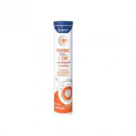 Quest Once a Day Vitamin C 1000 mg & Zinc Orange Flavour 20 eff tabs