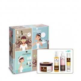 Messinan Spa Promo Hair Mask Pomegranade 250ml, Hair oil Grape Almond 100ml, Leave-in Conditioner 150ml & Hair Conditioner 55ml