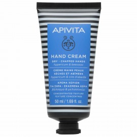 Apivita Hand Cream Dry-Chapped Hands Hypericum & Beeswax concentrated texture 50 ml