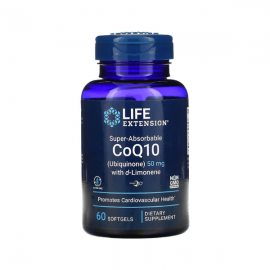 Life Extension Super Absorbable CoQ10 50 mg with D-Limon 60 softgels