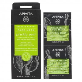 Apivita Express Beauty Face mask Prickly Pear Moisturizing Soothing 2 x 8 ml
