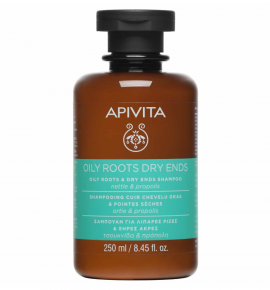 Apivita Hair Care Shampoo Oily Roots & Dry Ends nettle & propolis 250 ml