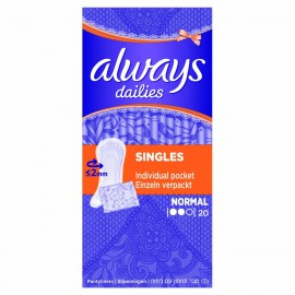 Always Dailies Normal Individually Wrapped 20τμχ