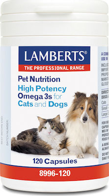 Lamberts Pet Nutrition High Potency Omega 3s for Cats & Dogs 120caps