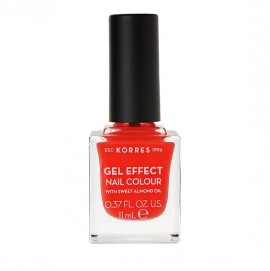 Korres Gel Effect Nail Colour With Sweet Almond Oil No.45 Coral 11ml