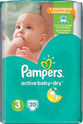 Pampers Active Baby Dry No 3 (5-9Kg) 20τμχ